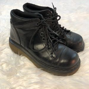 Dr Martens Black Leather Yolanda Boots Women's 7